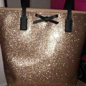 Pink glitter Kate Spade Shopper Tote